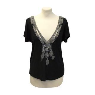 Gryphon black embellished top