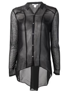 Helmut Lang black sheer shirt