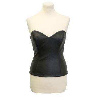 Jennifer Hope black leather corset top