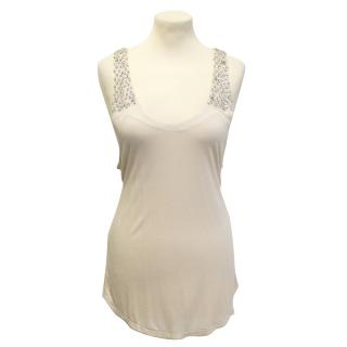 Haute Hippie nude diamante tank top