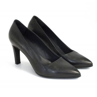 Cos black leather heels