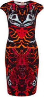 Alexander McQueen McQ Kaleidoscope Beetle Bodycon Dress