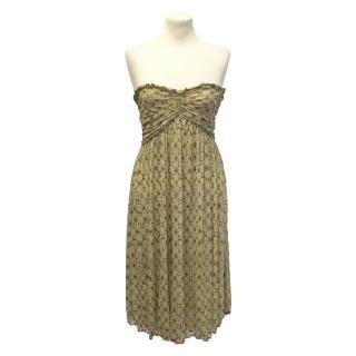 Diane von Furstenberg beige print dress