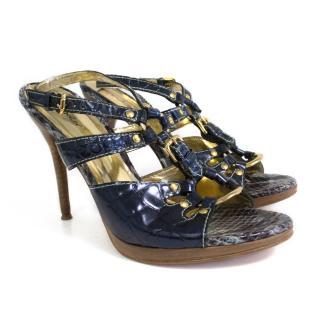 Sergio Zelcer Blue Strappy Heels