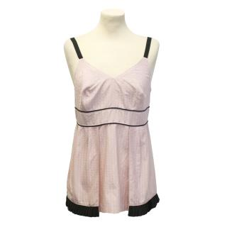 Naja Lauf pink pleated camisole top