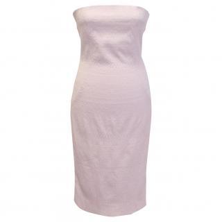 Dolce & Gabbana strapless pink dress