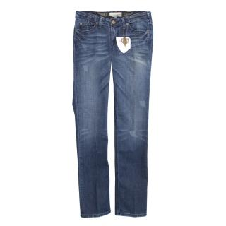 J & Company blue bootcut jeans