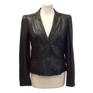 Marc Cain leather blazer jacket