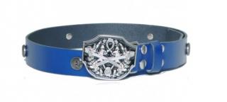 Alexander McQueen Blue Studded Belt