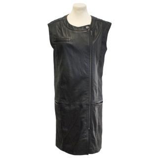 Maison Martin Margiela sleeveless leather dress/gilet