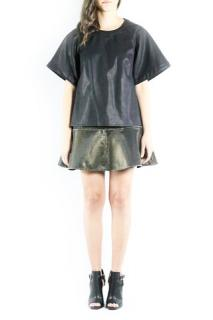 Finders Keepers faux leather top