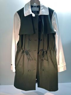 Thakoon Addition Green Drawstring Trench Coat NEW