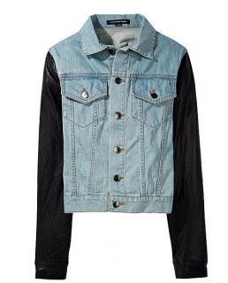 Alexander Wang leather goat skin denim jacket