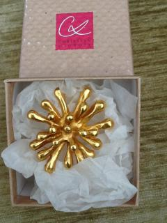 Christian LacroIx  ''Liquid Gold'' Pin/Brooch NEW