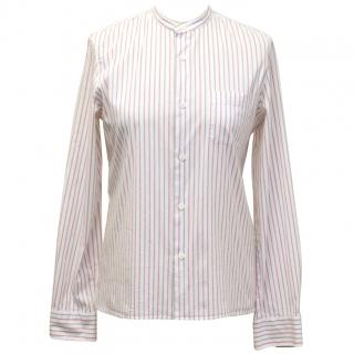 A.P.C. Rue De Fleurs Paris red striped shirt