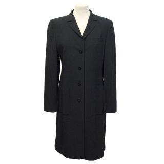 Laurel black thigh-length coat