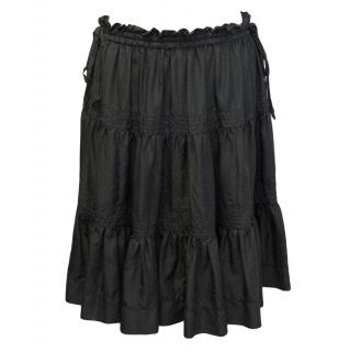 Marc Jacobs grey knee-length gypsy skirt