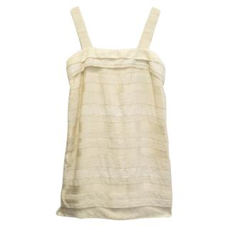 Thakoon cream textured dress