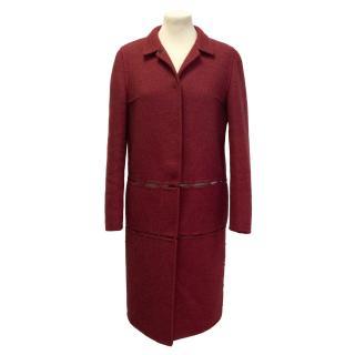 Prada red wool coat