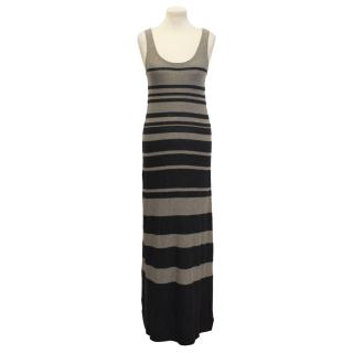 Vince striped knit maxi dress