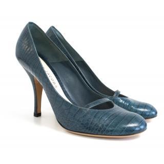 Marc Jacobs teal heels