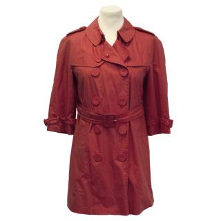 Pringle of Scotland short red trench coat