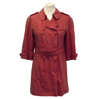 Pringle of Scotland short red trench coat