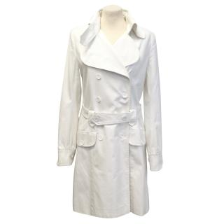 Patrizia Pepe white trench coat