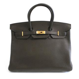 Hermes olive toga Birkin with gold plated hardware