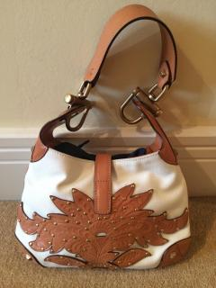 Gucci cream and tan shoulder bag unused