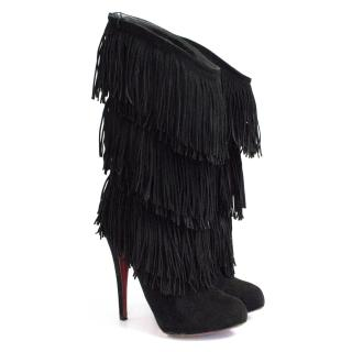 Christian Louboutin Forever Tina fringed boots