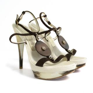 Casedei brown strappy heels