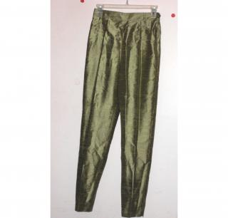 PAULE VASSEUR PARIS THIA SILK PANTS/TROUSERS
