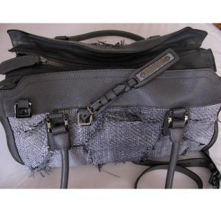 Burberry Frayed Grey Handbag