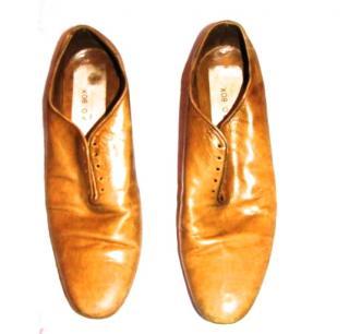 P.O. Box Men's beige shoes