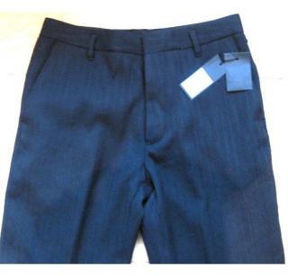Ann Demeulemeester men's wool suit trousers