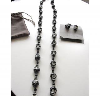 UTERQUE skull necklace & earings