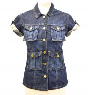 Mulberry Denim Button-Up Vest