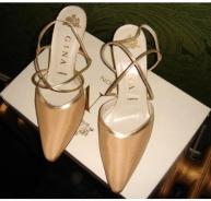 Gina gold sling-backs