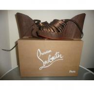 BRAND NEW WITH BOX CHRISTIAN LOUBOUTIN AIZEL ZEPPA WATERSNAKE WEDGES 39.5
