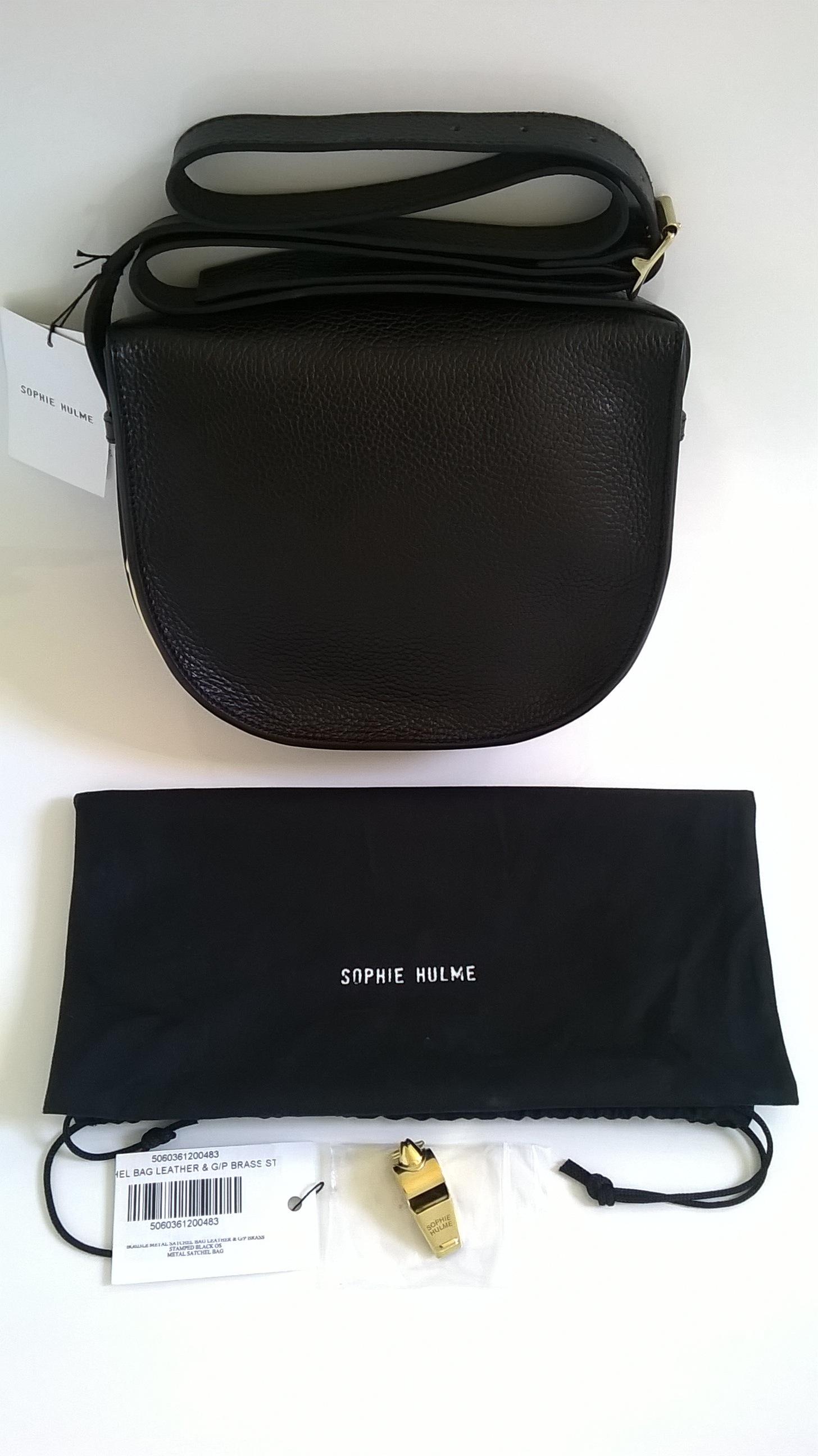 Sophie Hulme Black Clutch Bag