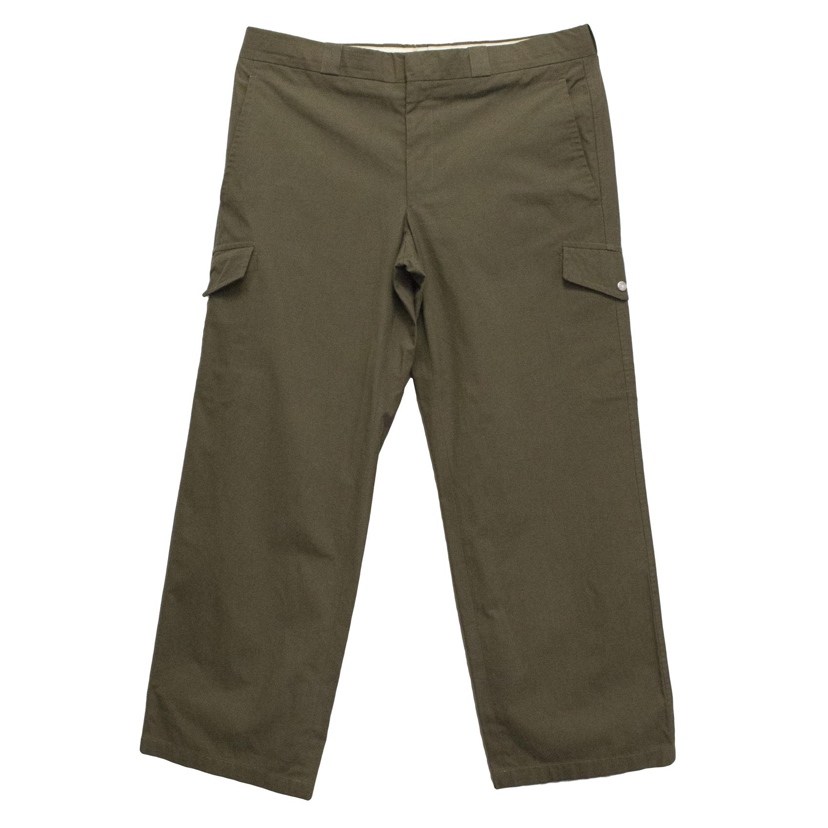 Hermes Mens Khaki Straight Leg Cargo Trousers