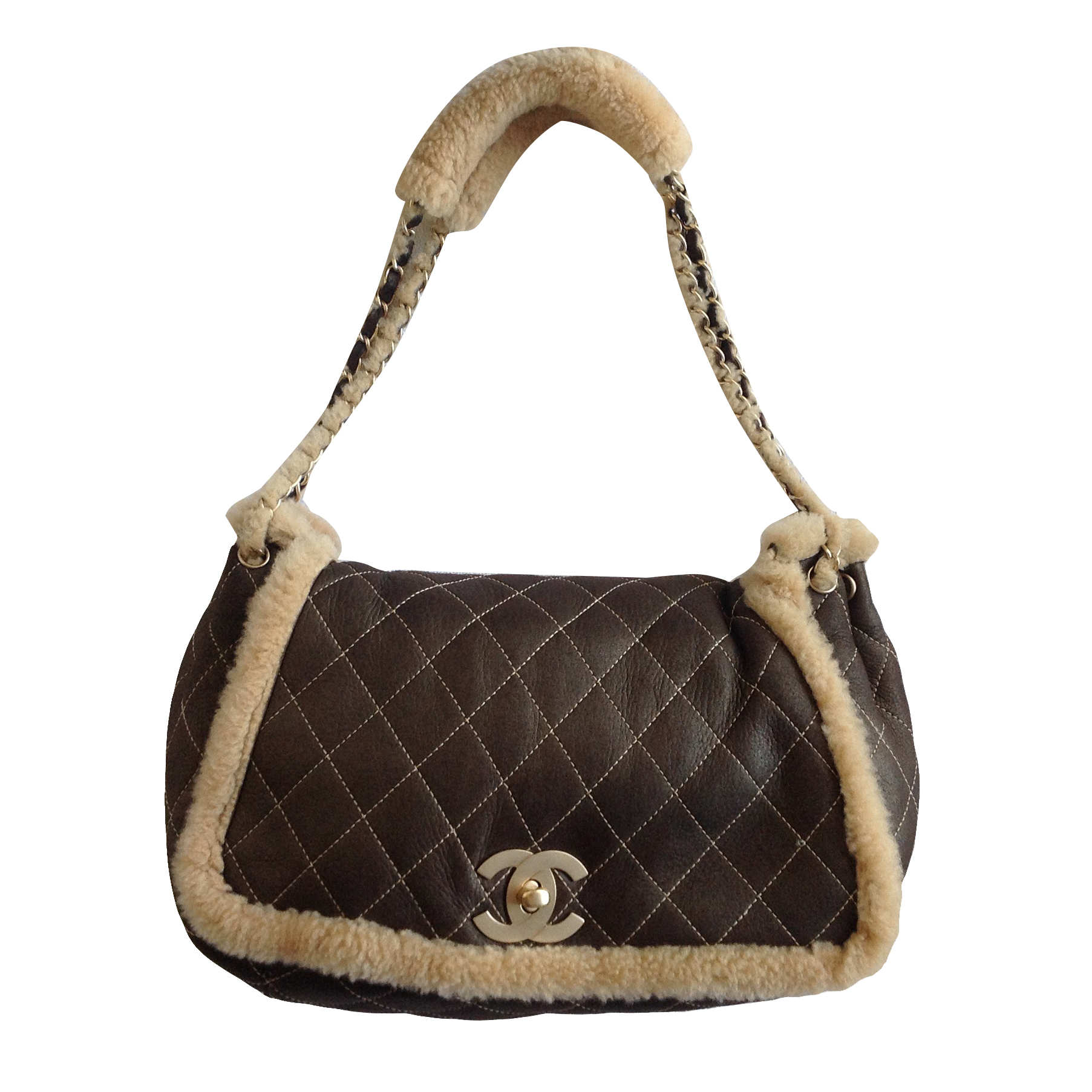 b4ad1b6e781b7d Chanel Shearling Flap Bag | HEWI London
