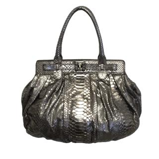 Puffy by Zagliani metallic bag
