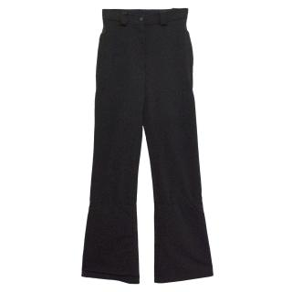 Giorgio Armani Black flared ski trousers