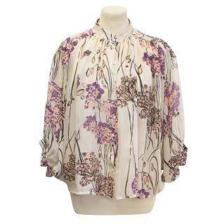 Designers Remix Charlotte Eskildsen cape sleeve floral shirt