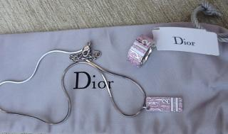 Dior 3D Enamel Necklace & Ring Set New