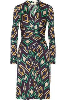 ISSA LONDON DIAMOND PRINT SILK JERSEY DRESS NEW WITH TAG UK8 US4