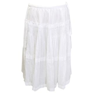 Jil Sander off white skirt