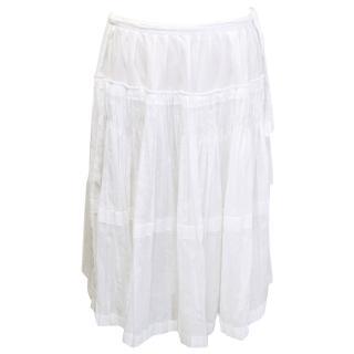 Jil Sander off white skirt